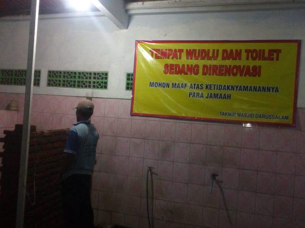 Dokumentasi Renovasi Tempat Wudhu